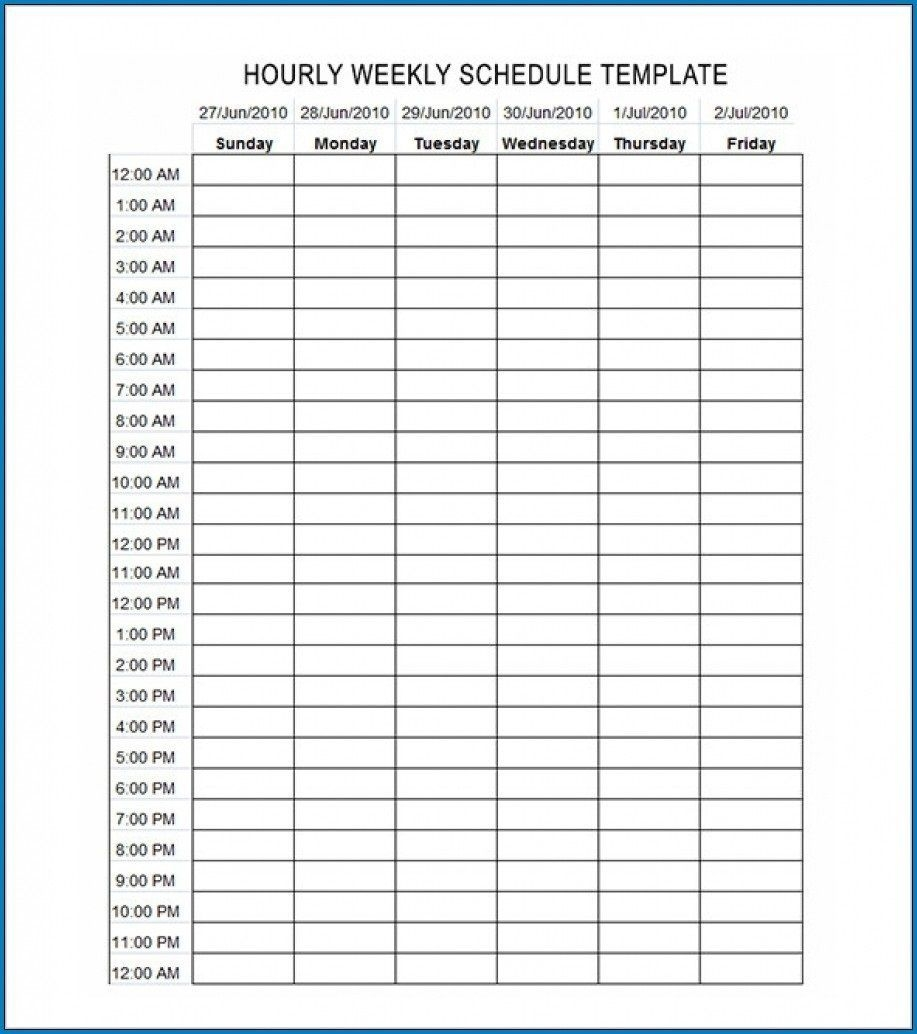 003 Beautiful Excel Hourly Schedule Template Highest Clarity