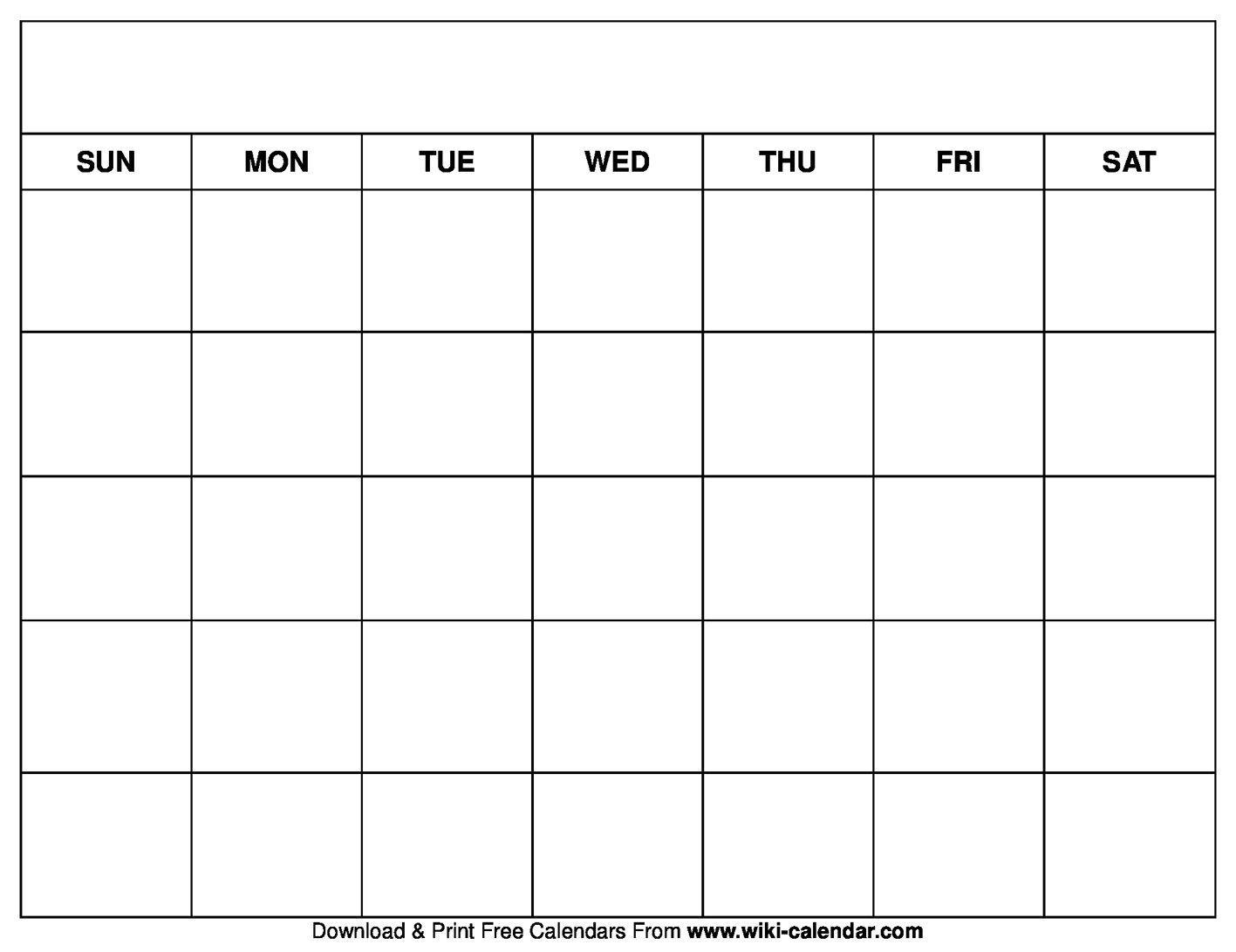 003 Top Fill In Calendar Template Design ~ Addictionary