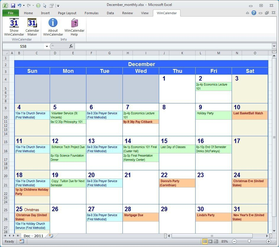 005 Fearsome Excel Calendar Template Free Highest Clarity