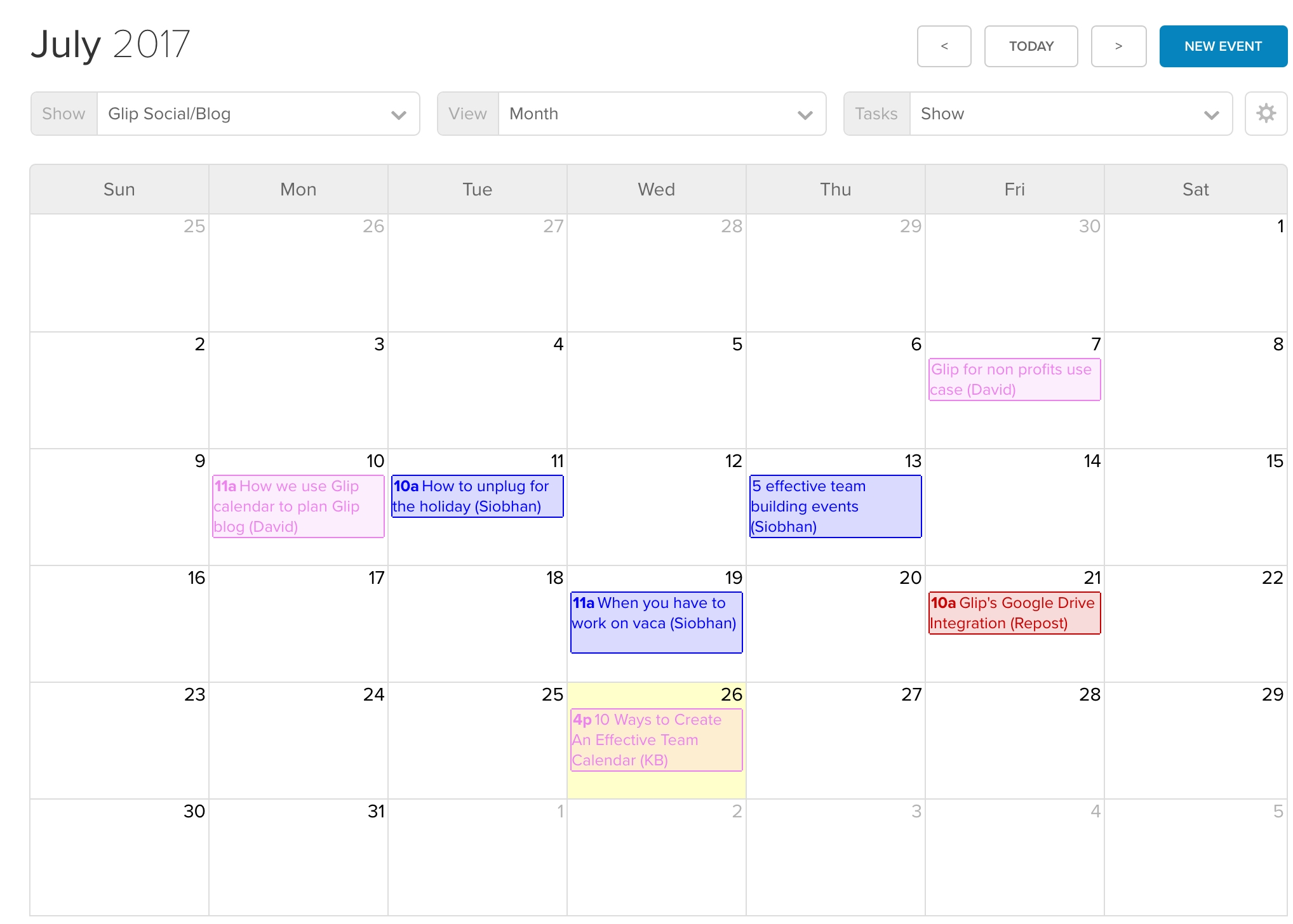 10 Ways To Create And Manage An Effective Team Calendar