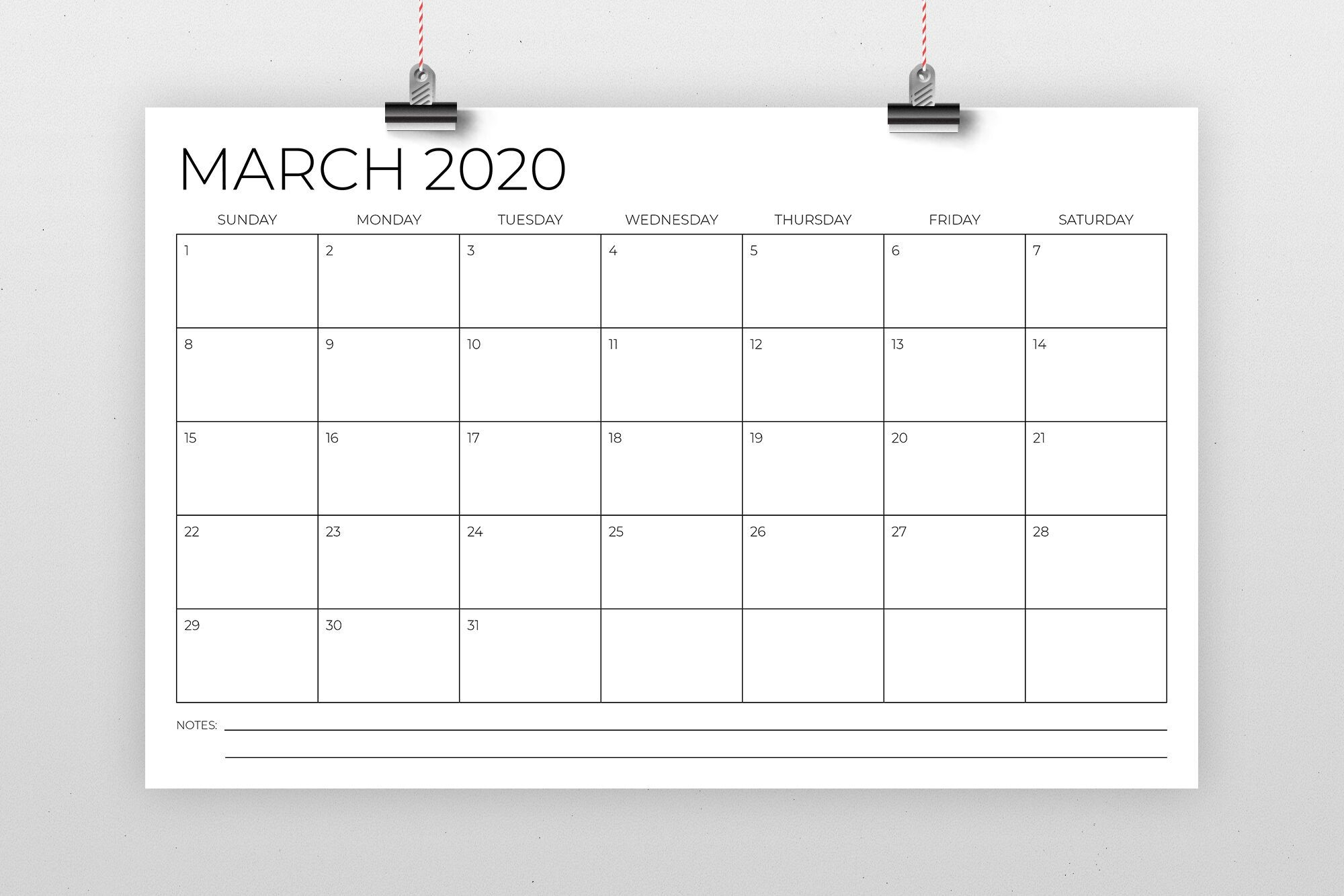11 X 17 Inch Modern 2020 Calendar By Running With Foxes