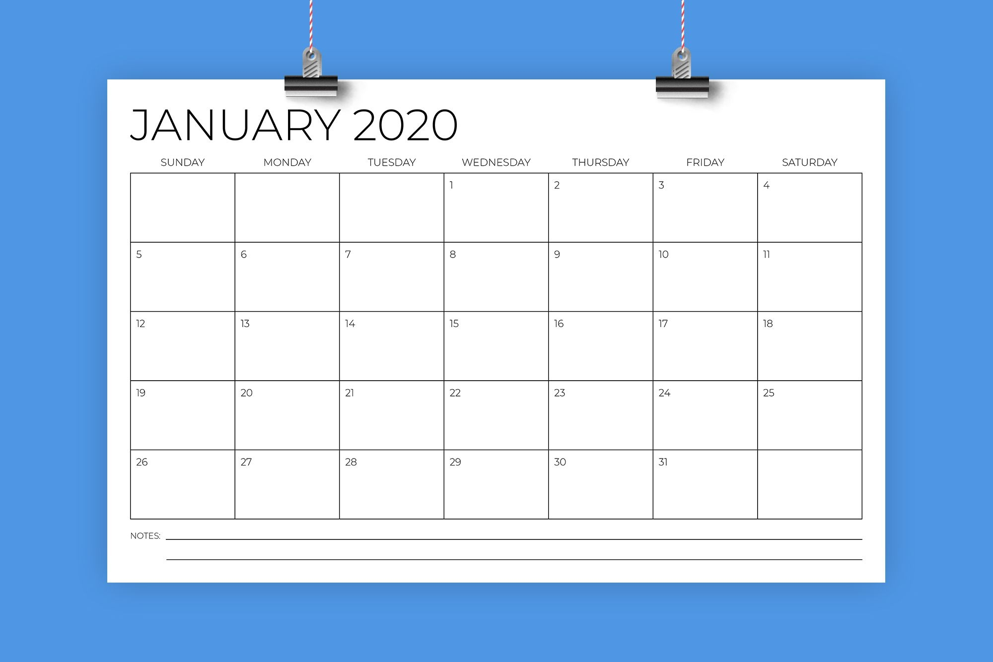 11 X 17 Modern 2020 Calendar