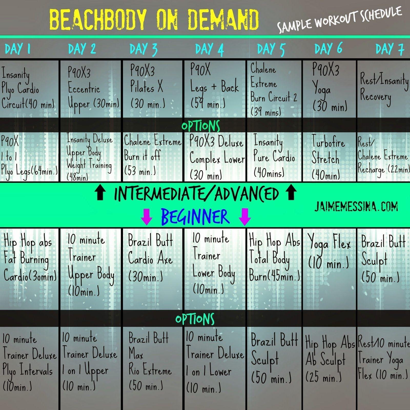 129 Best Beachbody Images In 2020 | Workout Calendar