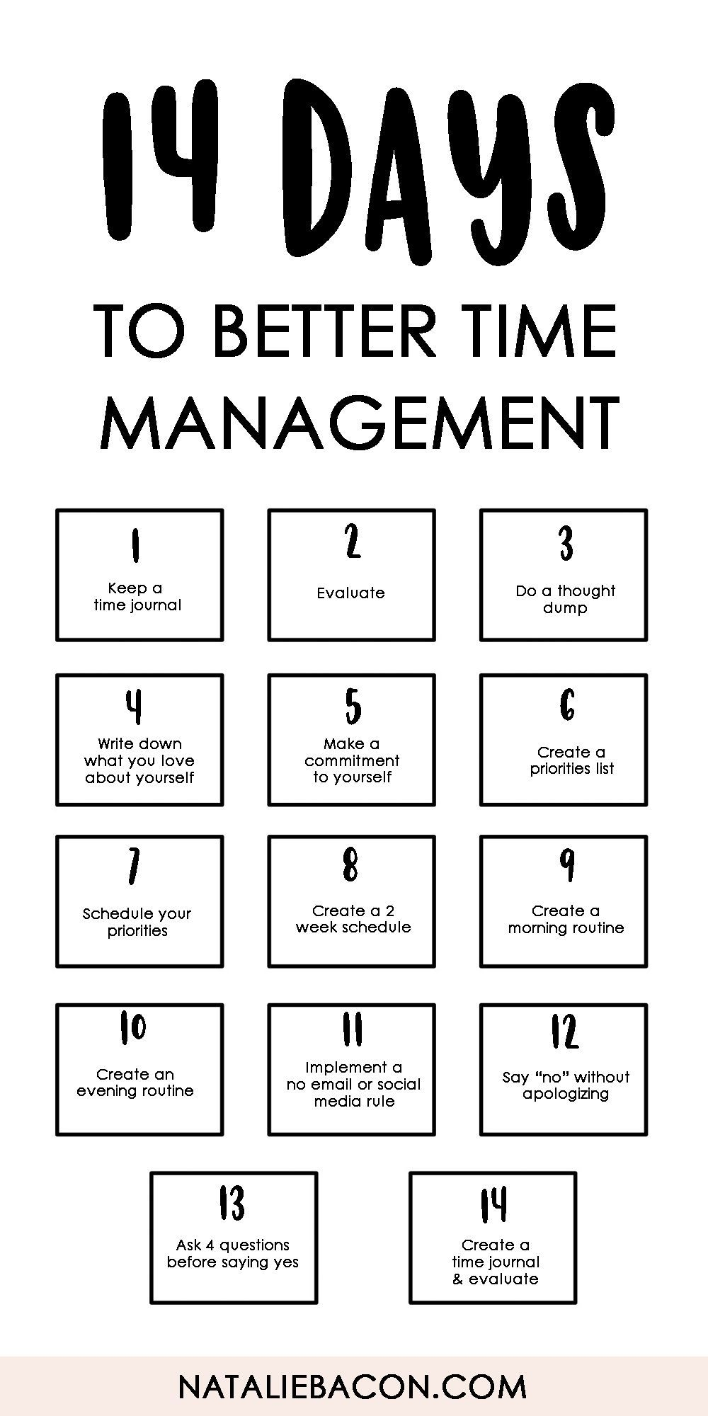 14 Days To Better Time Management - Free Download Template