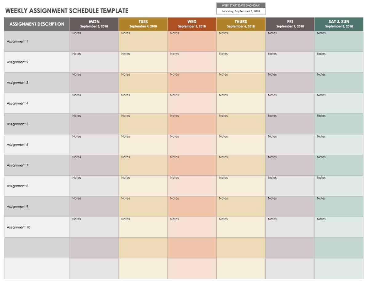 15 Free Weekly Calendar Templates   Smartsheet