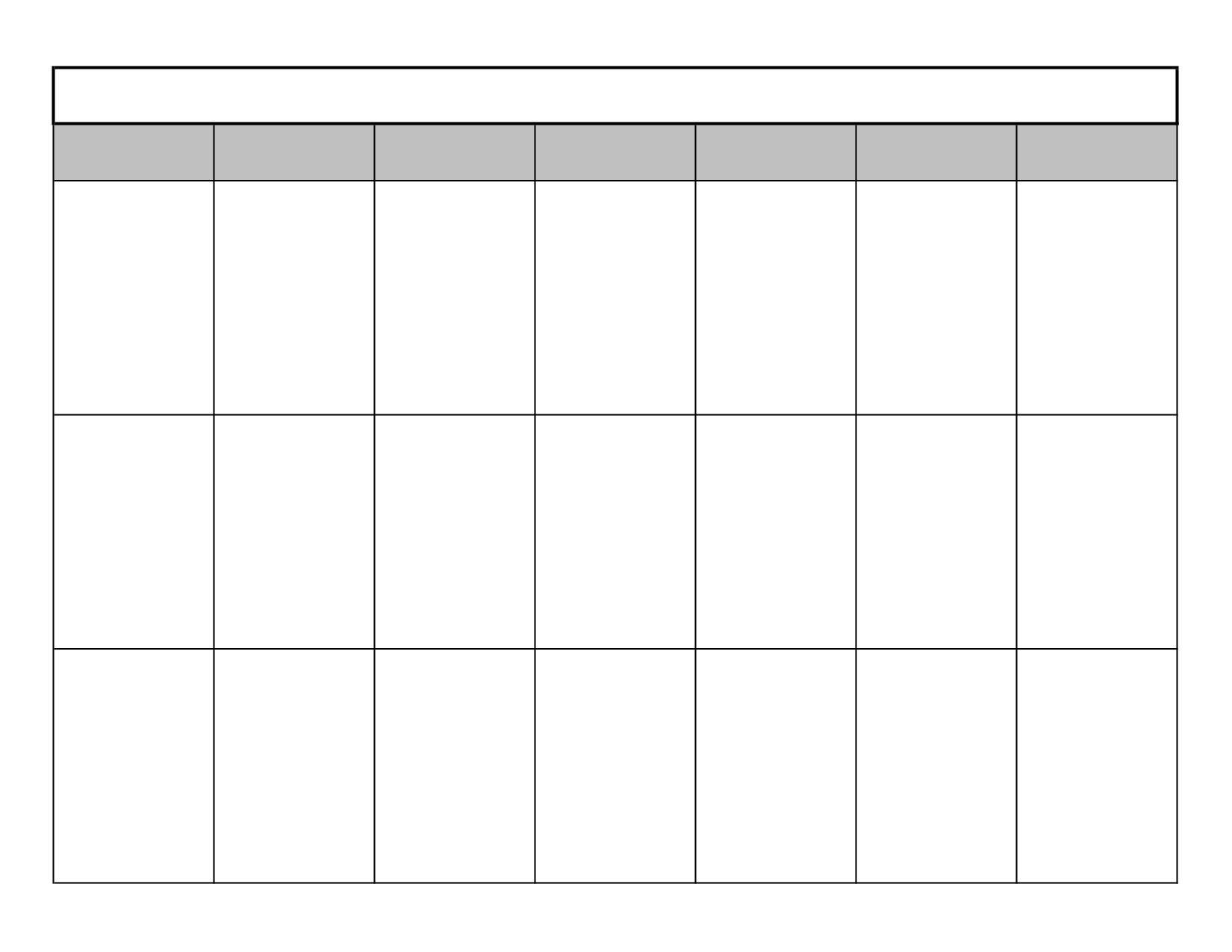 16 Blank Printable Weekly Calendars Templates Images - Blank