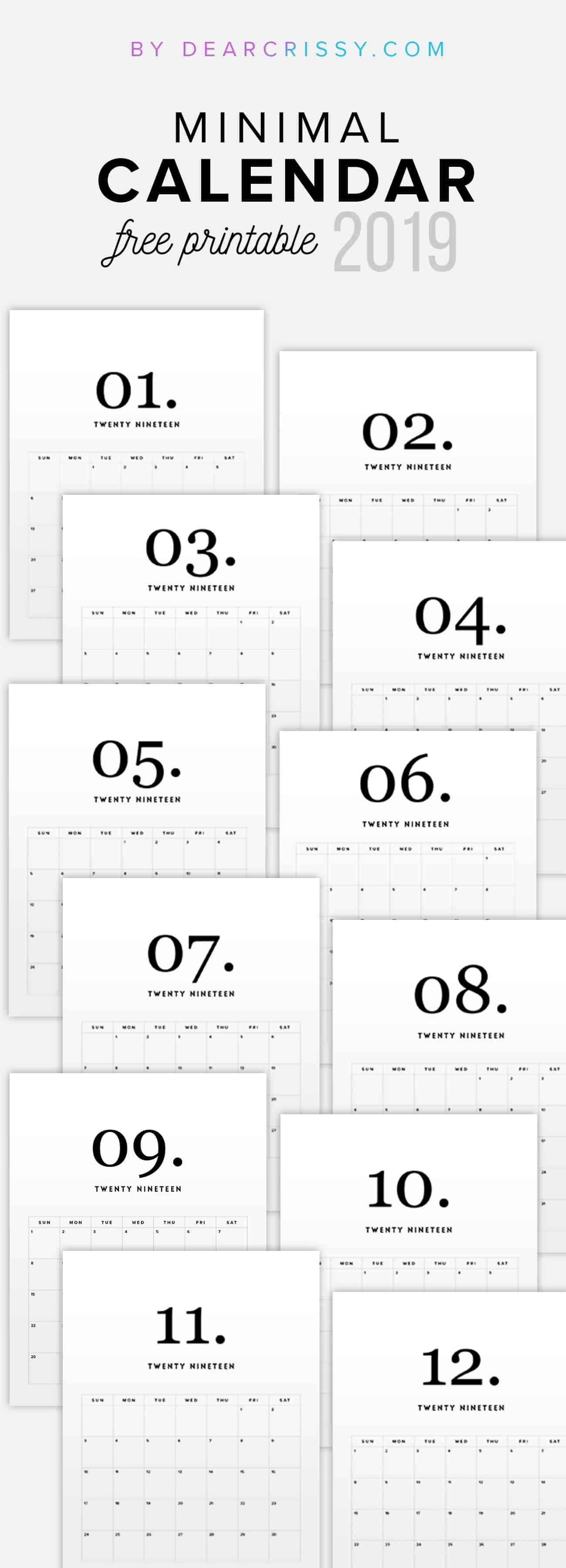 19 Free Printable Calendars To Kick Start The New Year