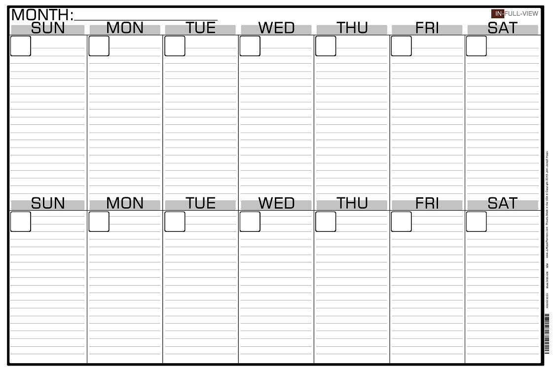 2 Week Blank Calendar Calendar Printable Free Free 2 Week