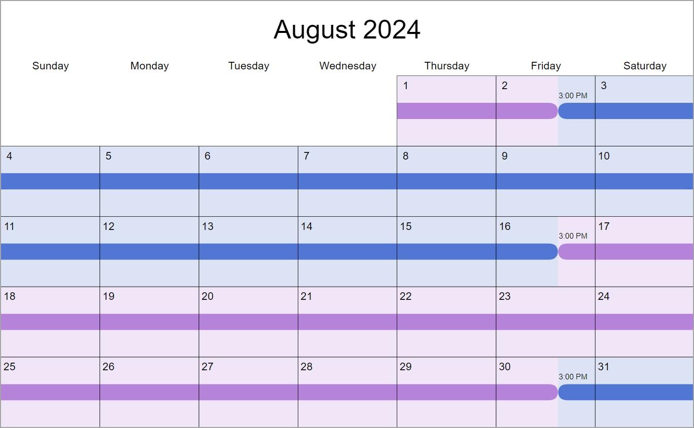 2 Weeks Each Custody & Visitation Schedule Examples: Create