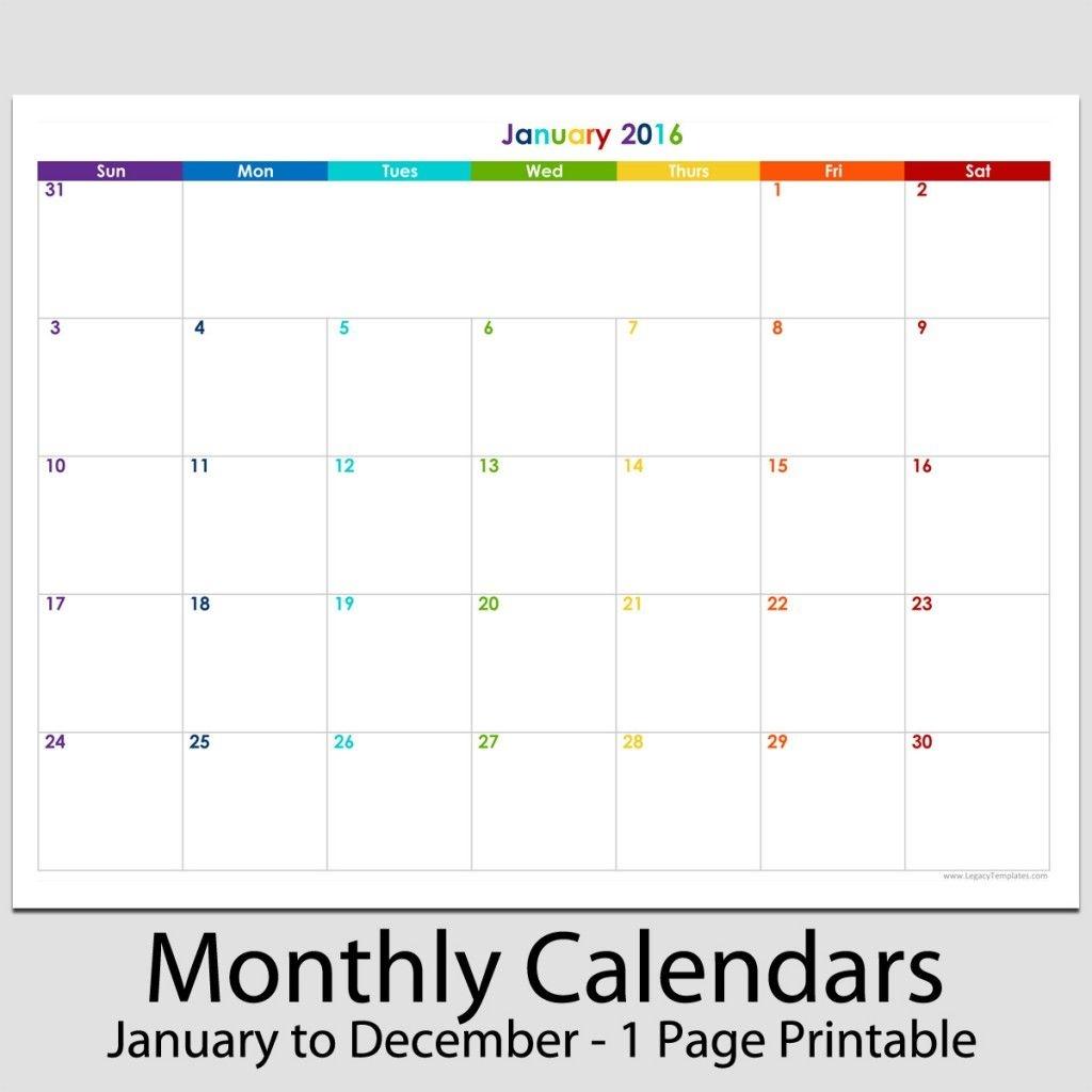 """2016 - 12 Month Landscape Calendar - 8 1/2"""" X 11""""   Legacy"""
