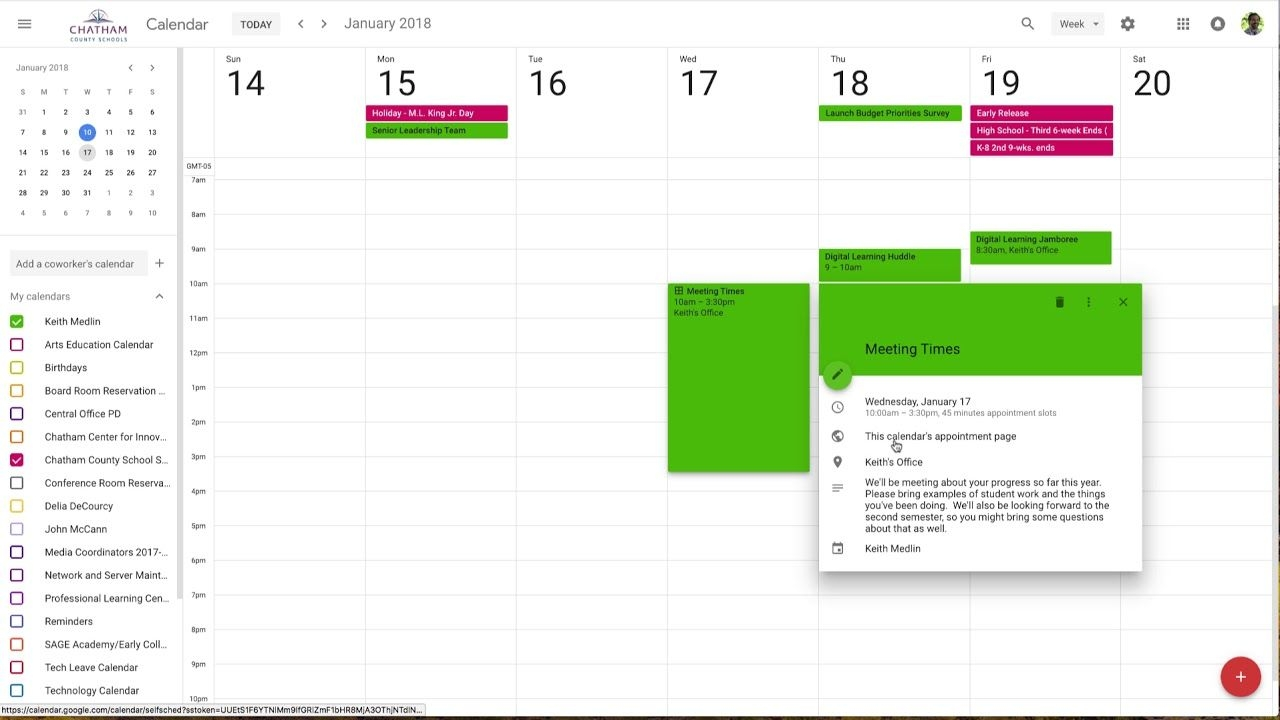 2018-01-16 Appointment Slots In The New Google Calendar
