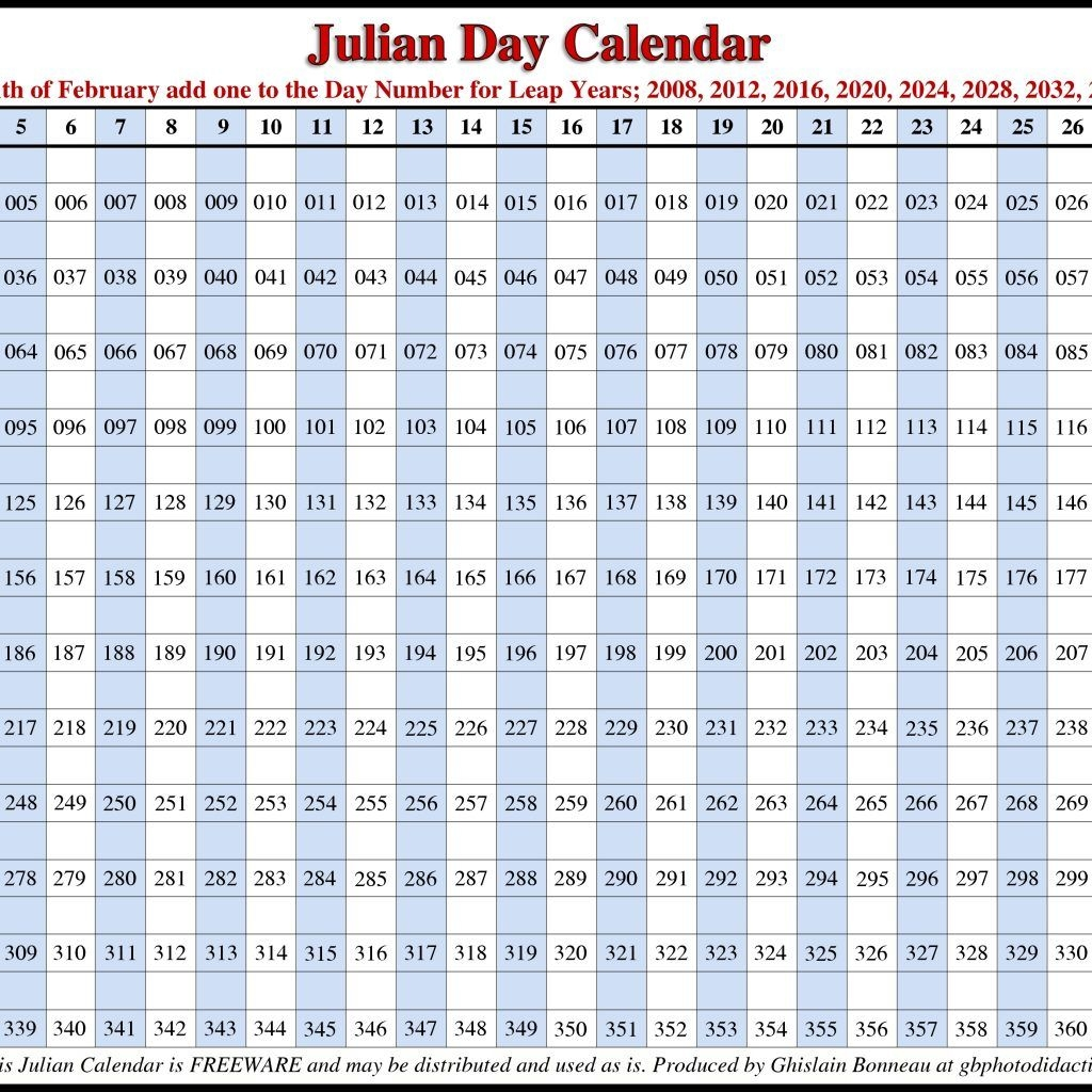 2018 Calendar Julian Date – 2019 New Year Images