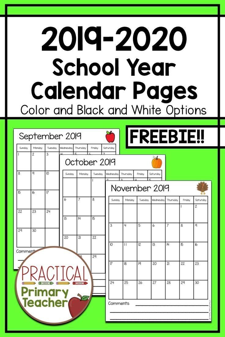 2019-2020 Calendars Free   Teacher Calendar, Printable