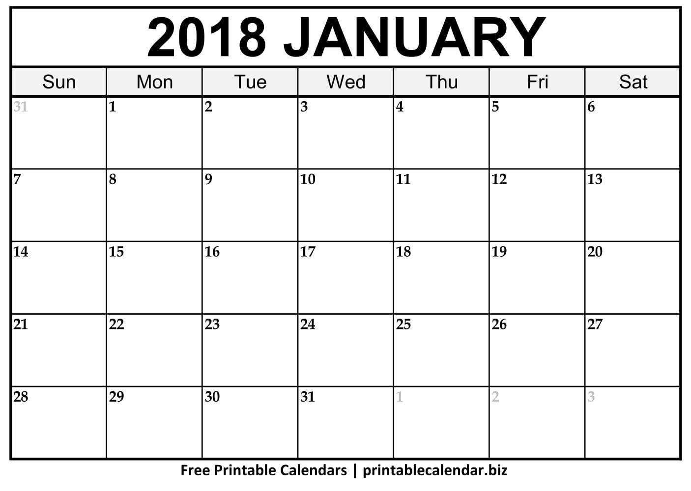 2019 Printable Calendar Templates - Printablecalendar.biz