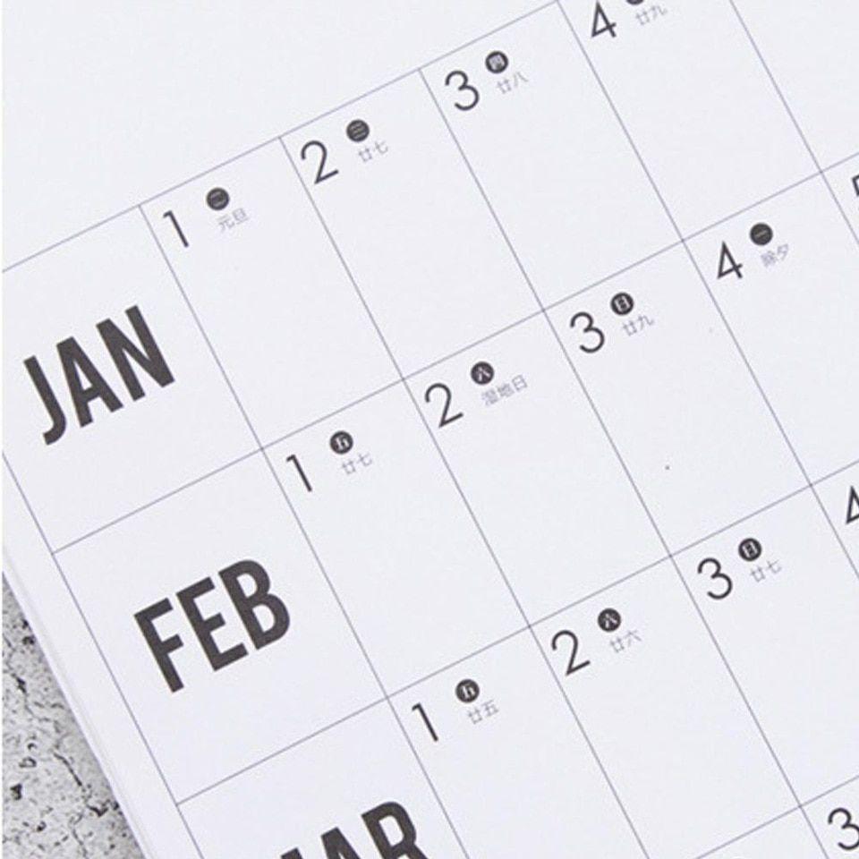 2020 Annual Plan Year Round Plan 365 Days Sticker Habits Develop Schedule  Reminder Countdown Note Calendar Table