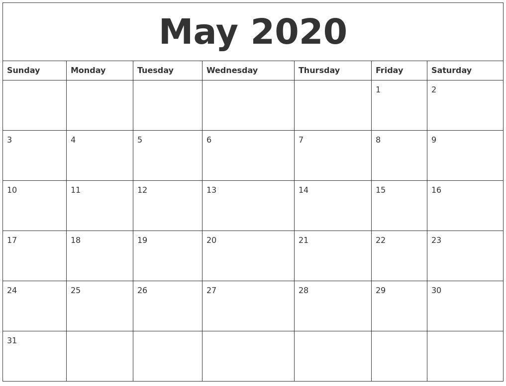 2020 Calendar Autos Post Custom Editable 2020 Free Printable