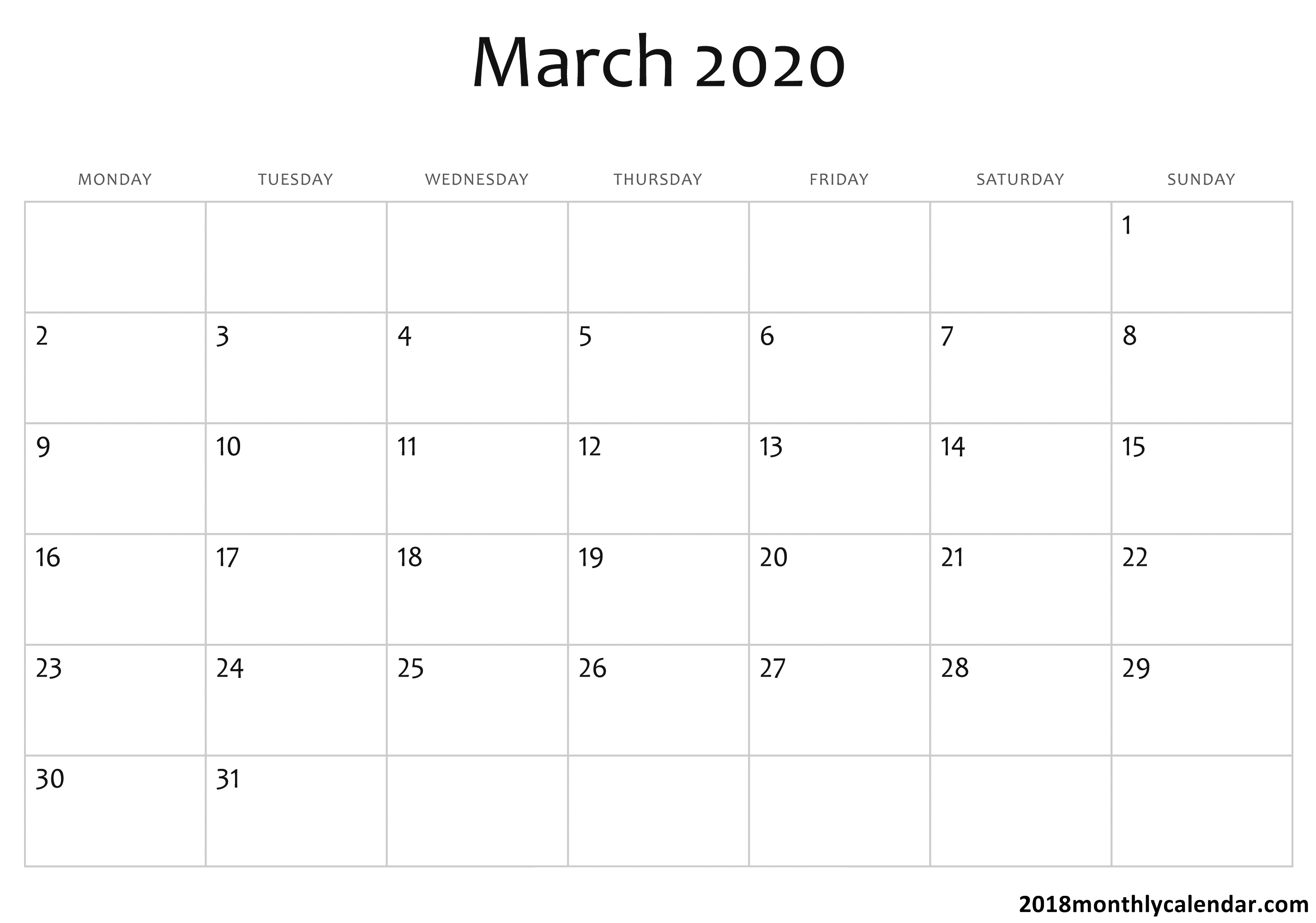 2020 Calendar You Can Edit | Calendar Printables Free Templates