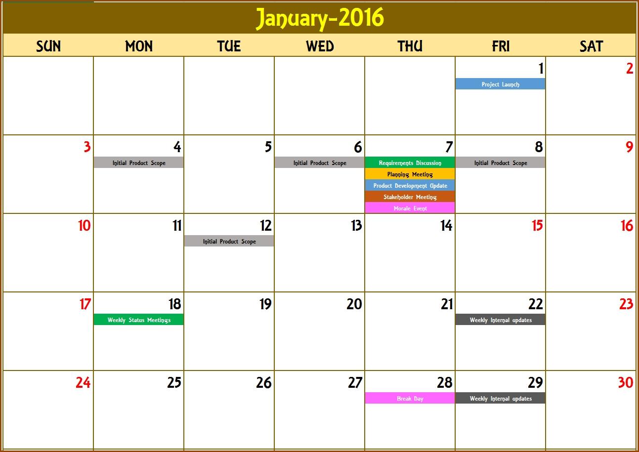 2020 Excel Calendar Template - Excel Calendar 2020 Or Any