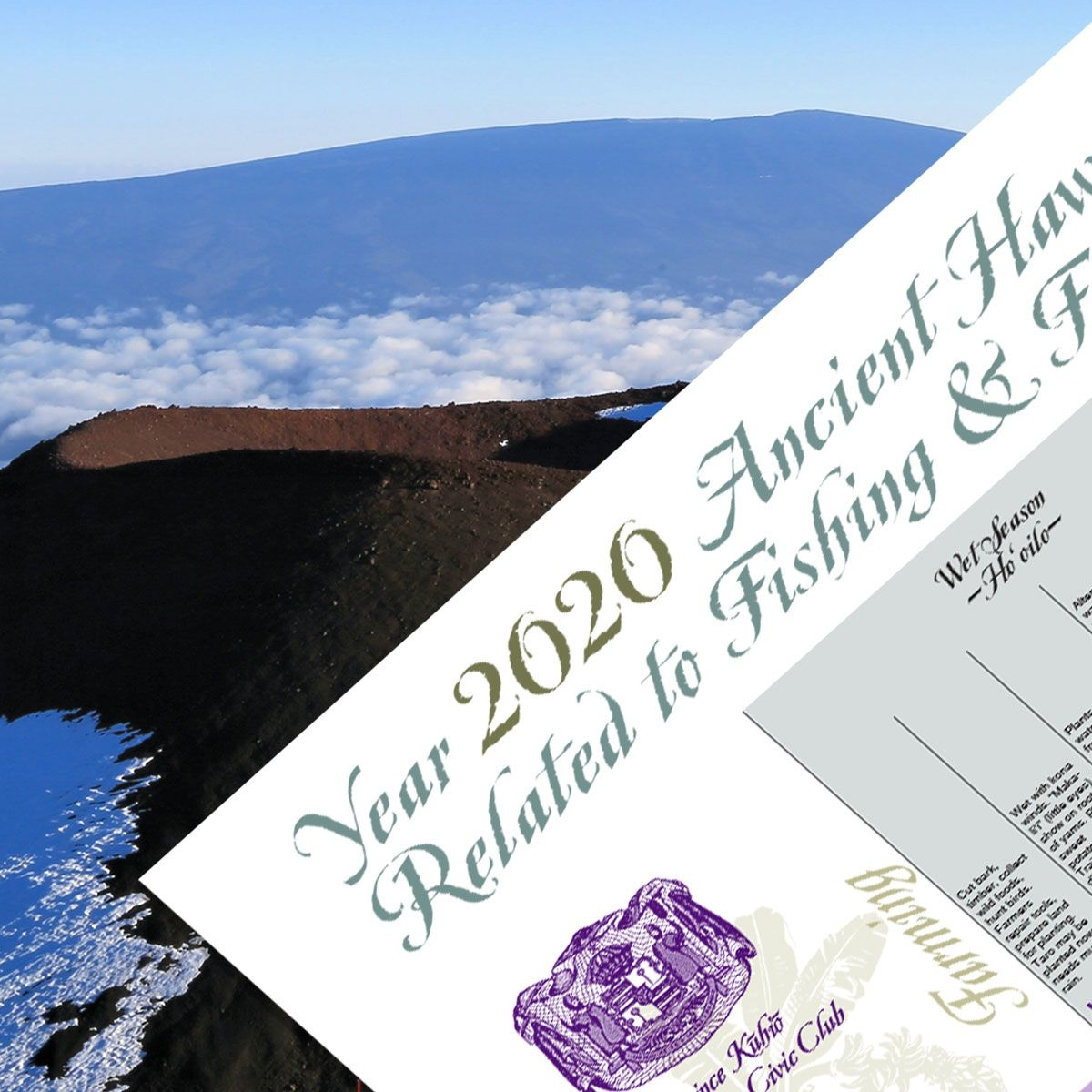 2020 Hawaiian Fishing & Farming Moon Calendar