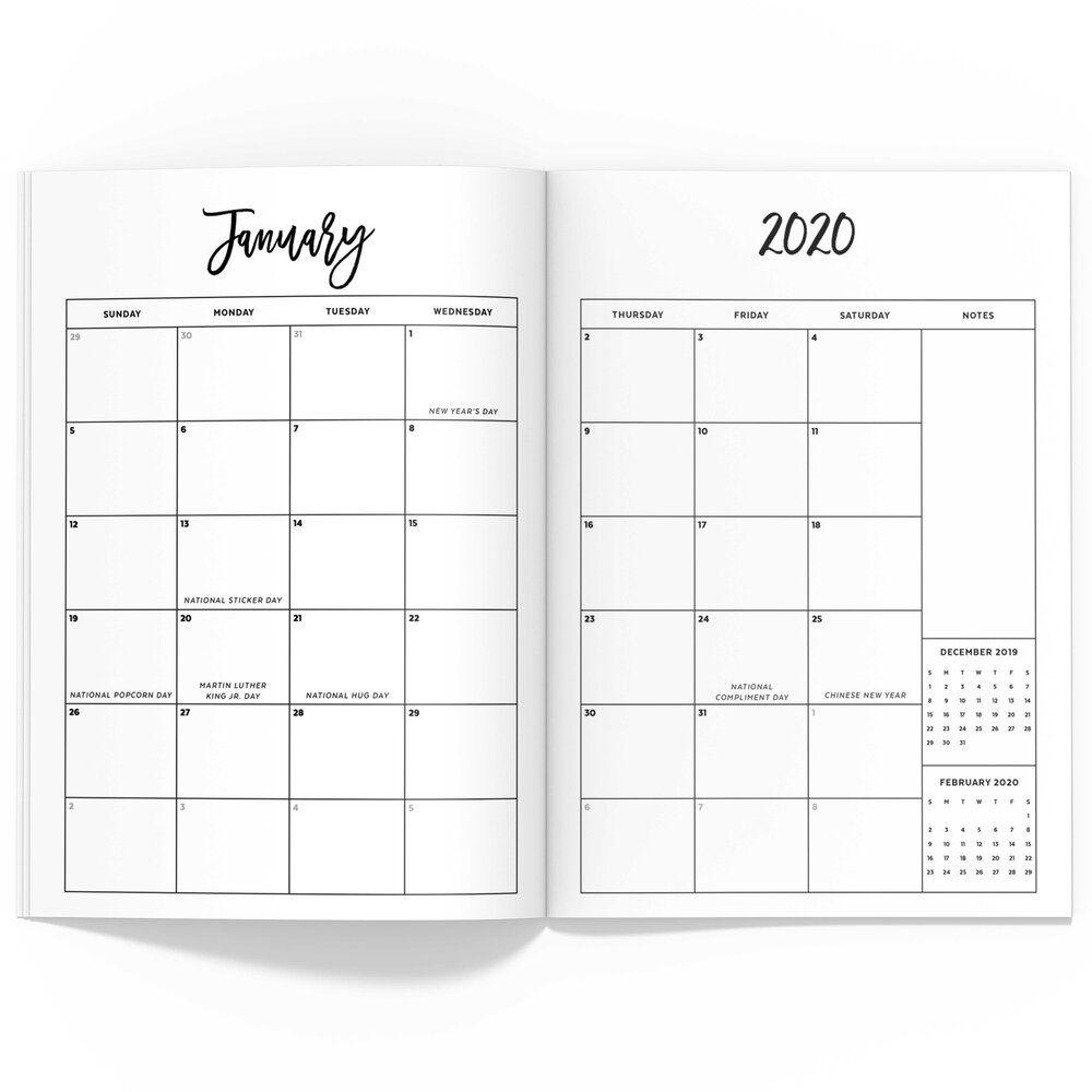 2020 Monthly Half Sheet Tn | City Series — Confetti Saturday