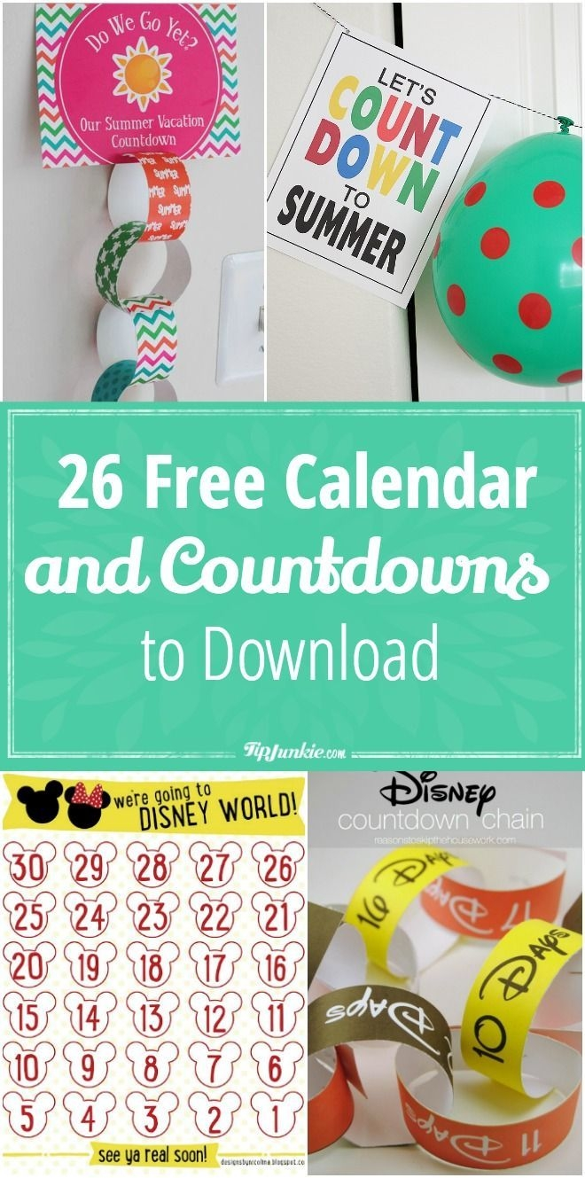 26 Free Calendar And Countdowns To Download For May | Kids
