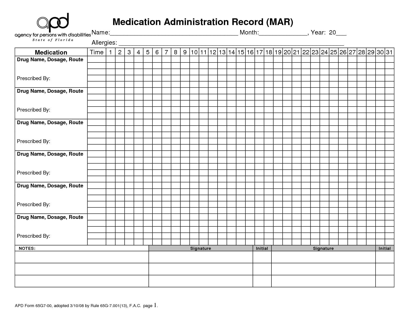 27 Images Of Blank Medication Log Form Template | Leseriail