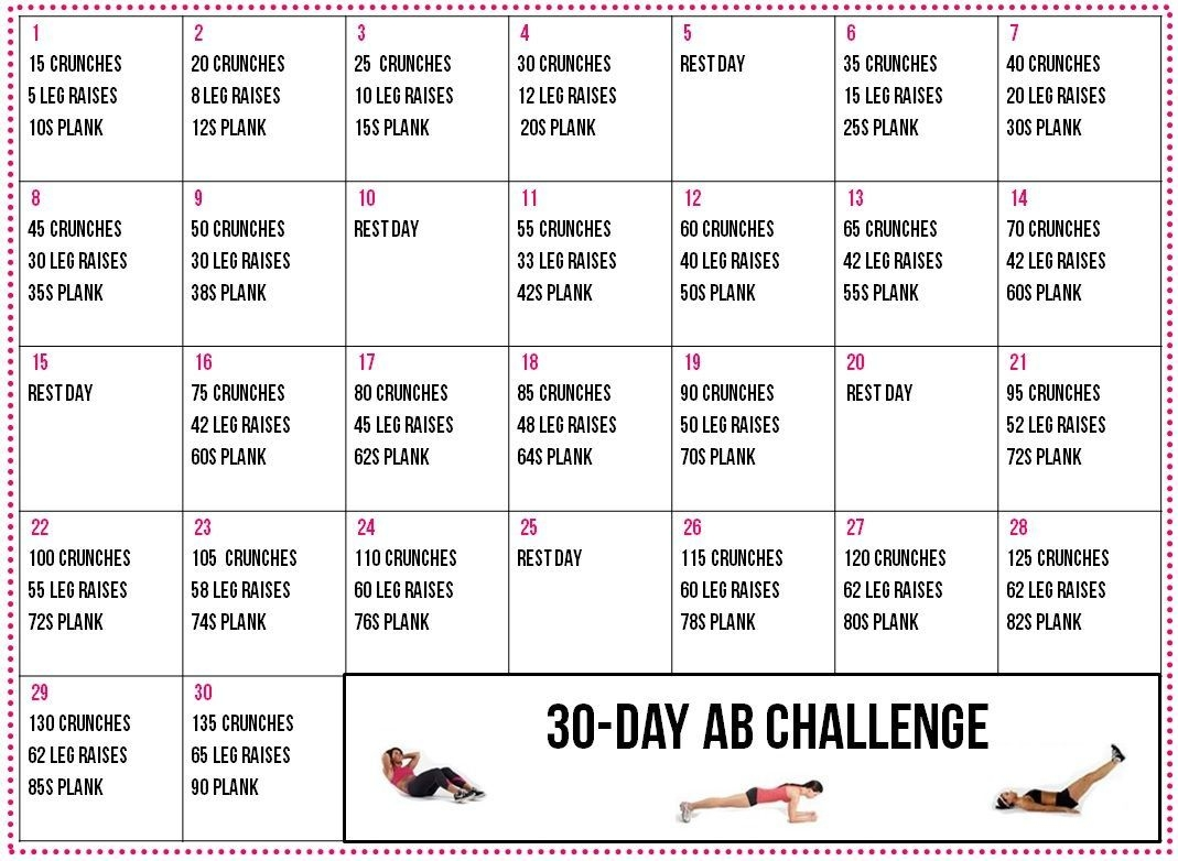 30-Day Ab Challenge! Gonna Do This For The Next 30 Days