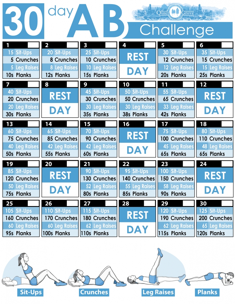 30-Day Ab Challenge (With Free Printable) ⋆ The Quiet Grove