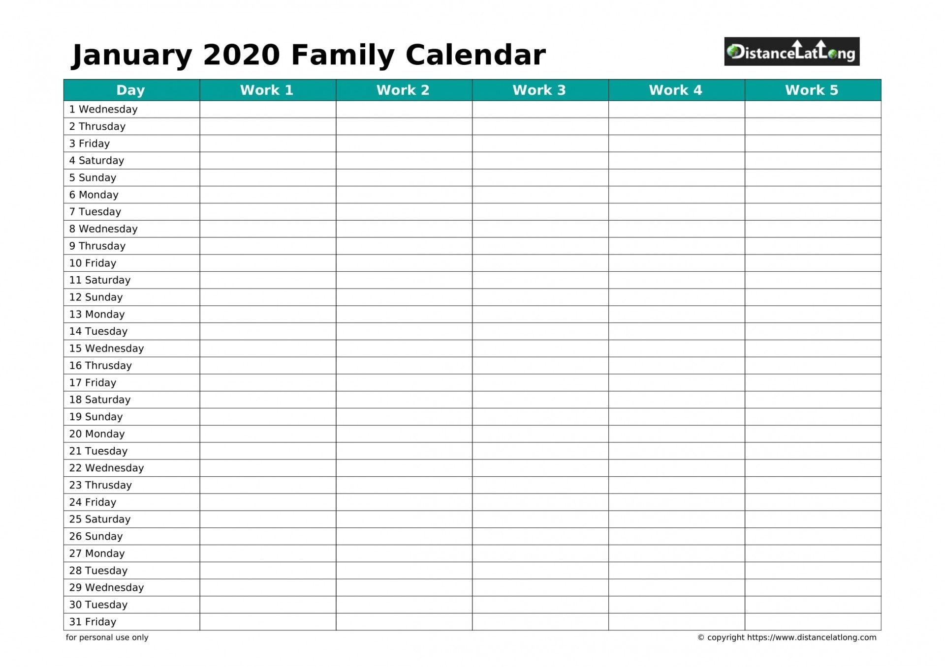 30 Day Calendar Template ~ Addictionary
