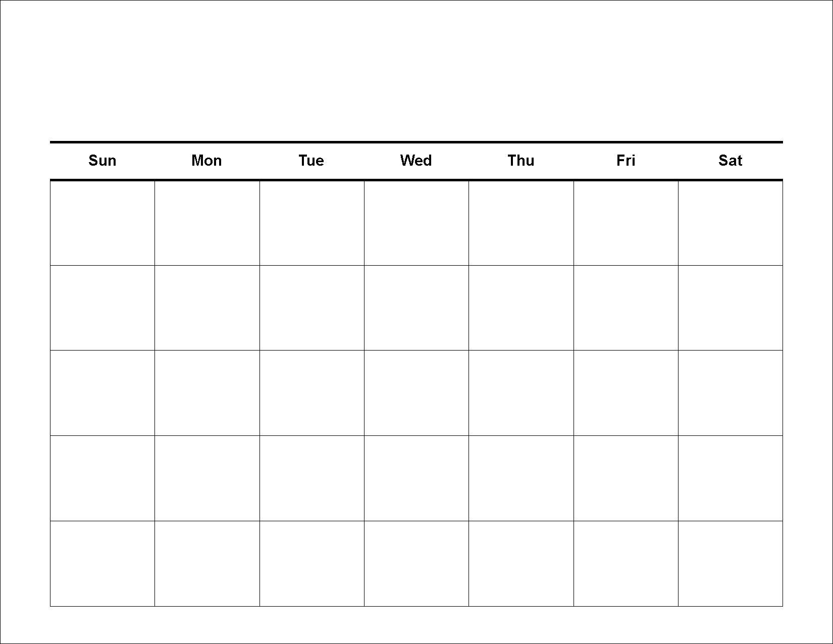 30 Day Calendar Template   Templates Free Printable