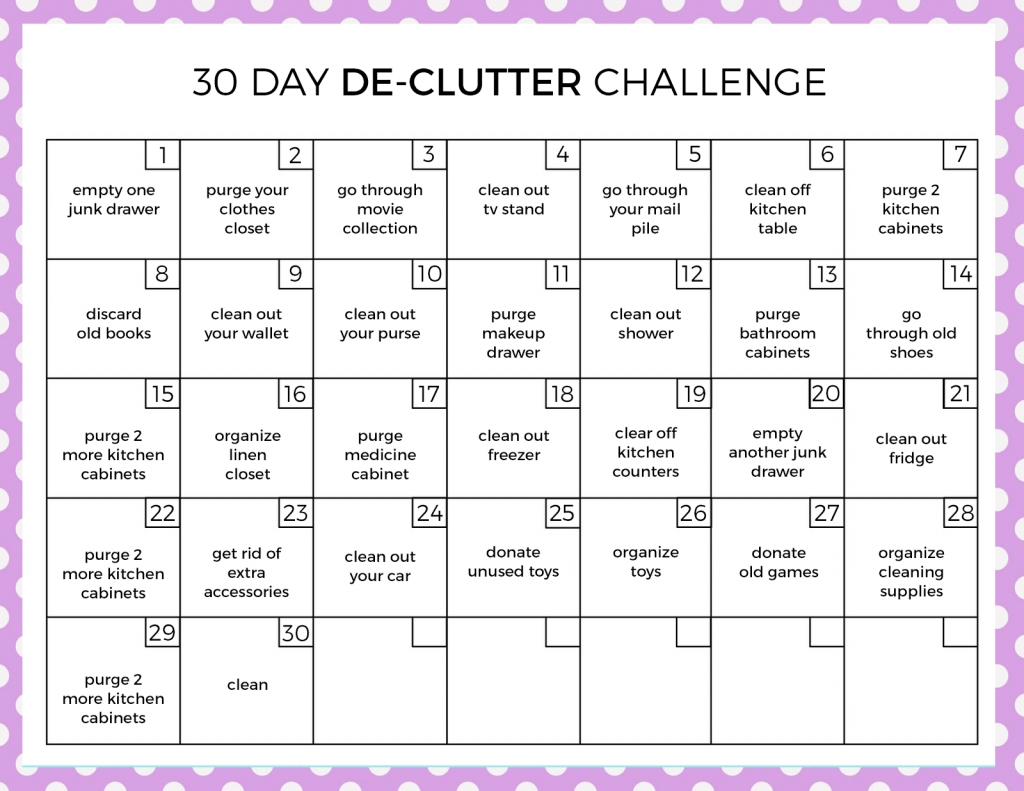30 Day Declutter Challenge - Love And Marriage
