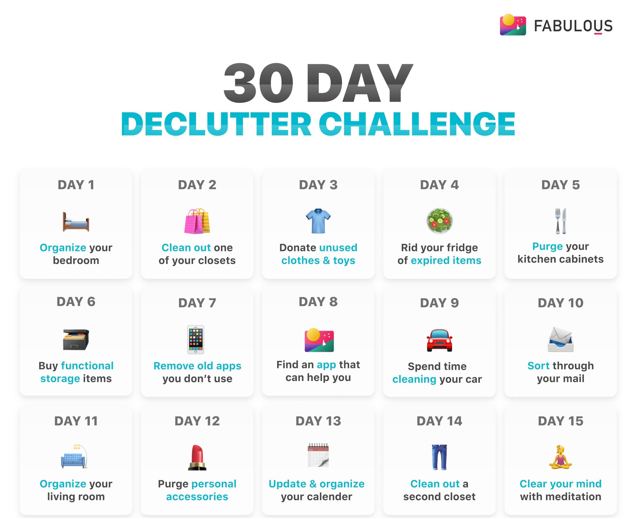 30 Day Declutter Challenge - Minimalist.mindset - Medium