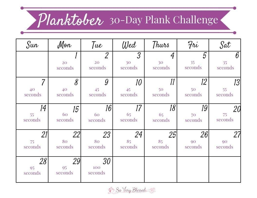 30-Day Plank Challenge For Beginners (With Images) | 30 Day
