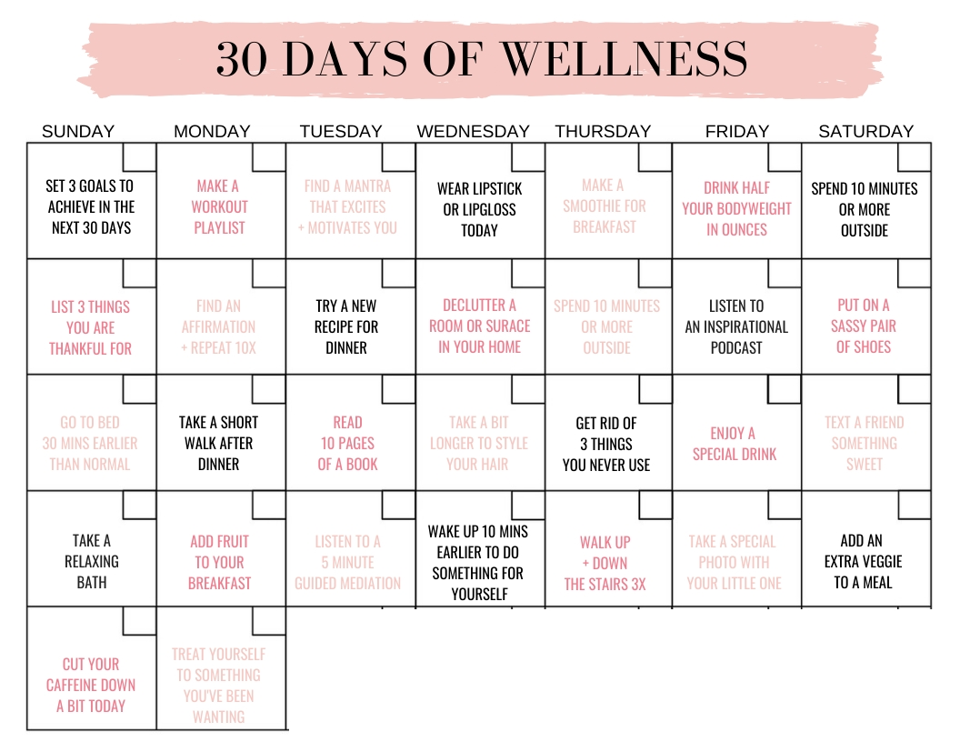 30 Days Of Wellness | Workout Accountability For Moms