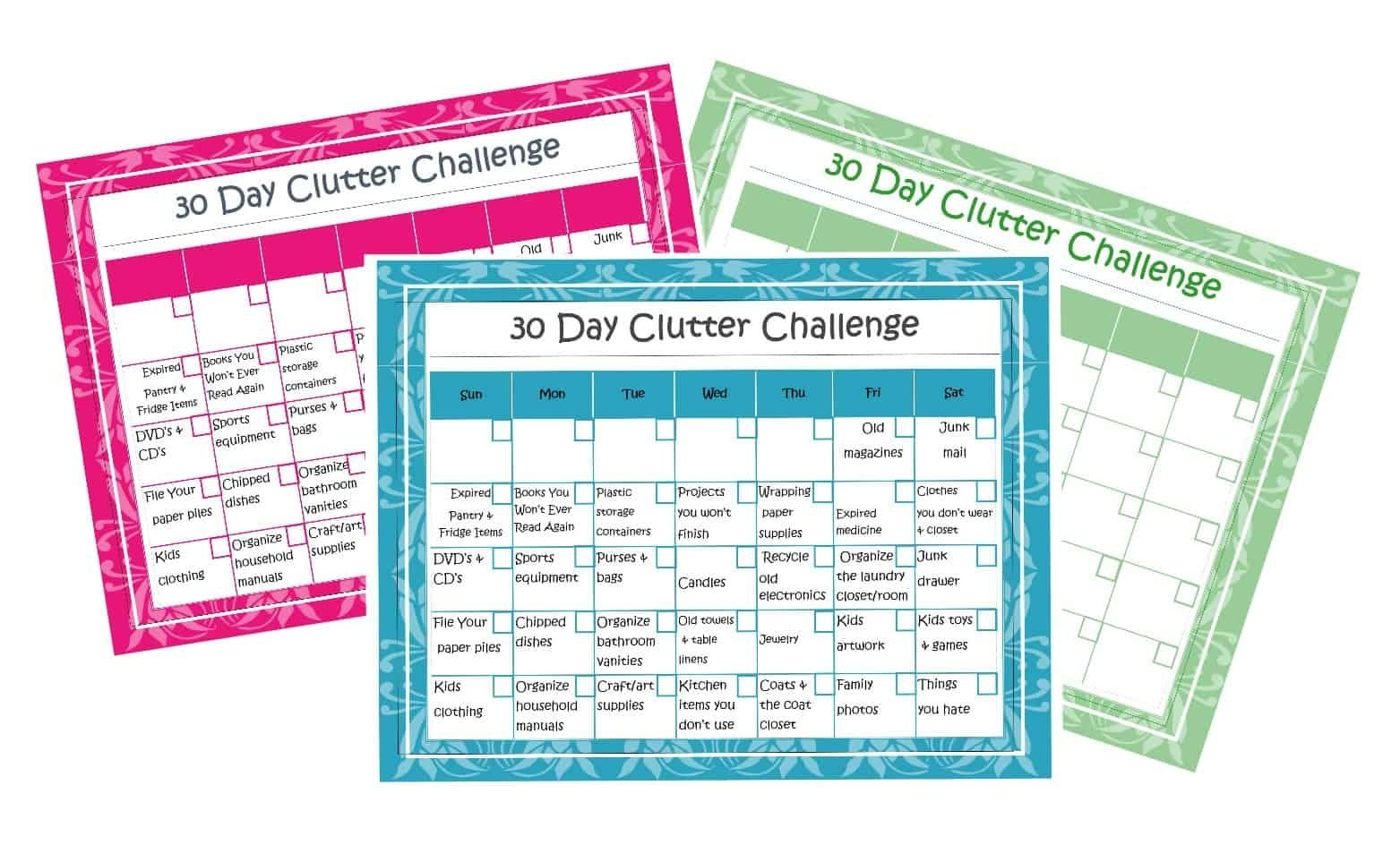 30 Days To An Organized Home + Calendar Printable - Hairs