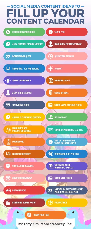 31 Social Media Content Ideas To Fill Up Your Content Calendar
