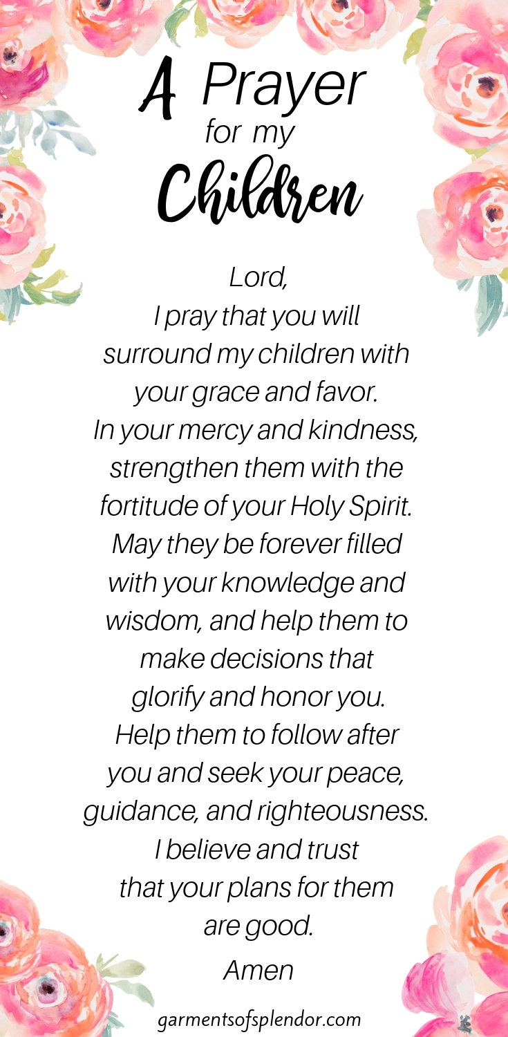 35 Scriptures To Pray Over Your Children (With Free Prayer