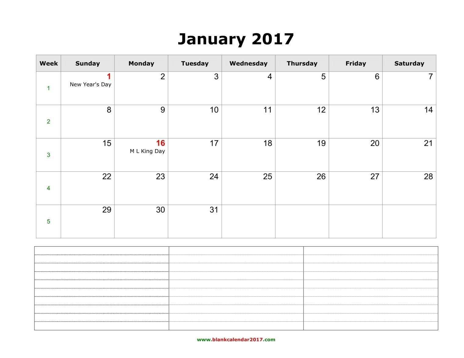 36 Free Daily Calendar Template With Notes Section In Word