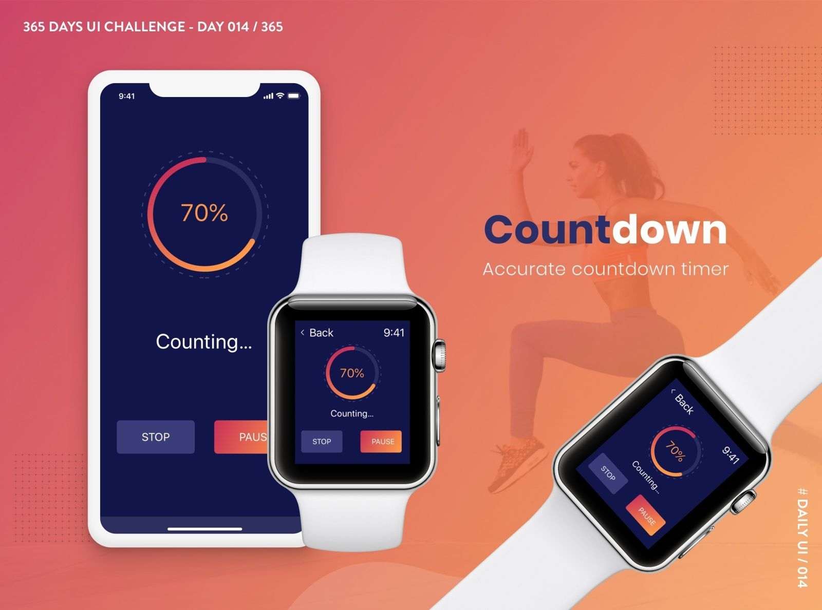 365 Days Ui Challenge-Day 014- Countdown Timer By K