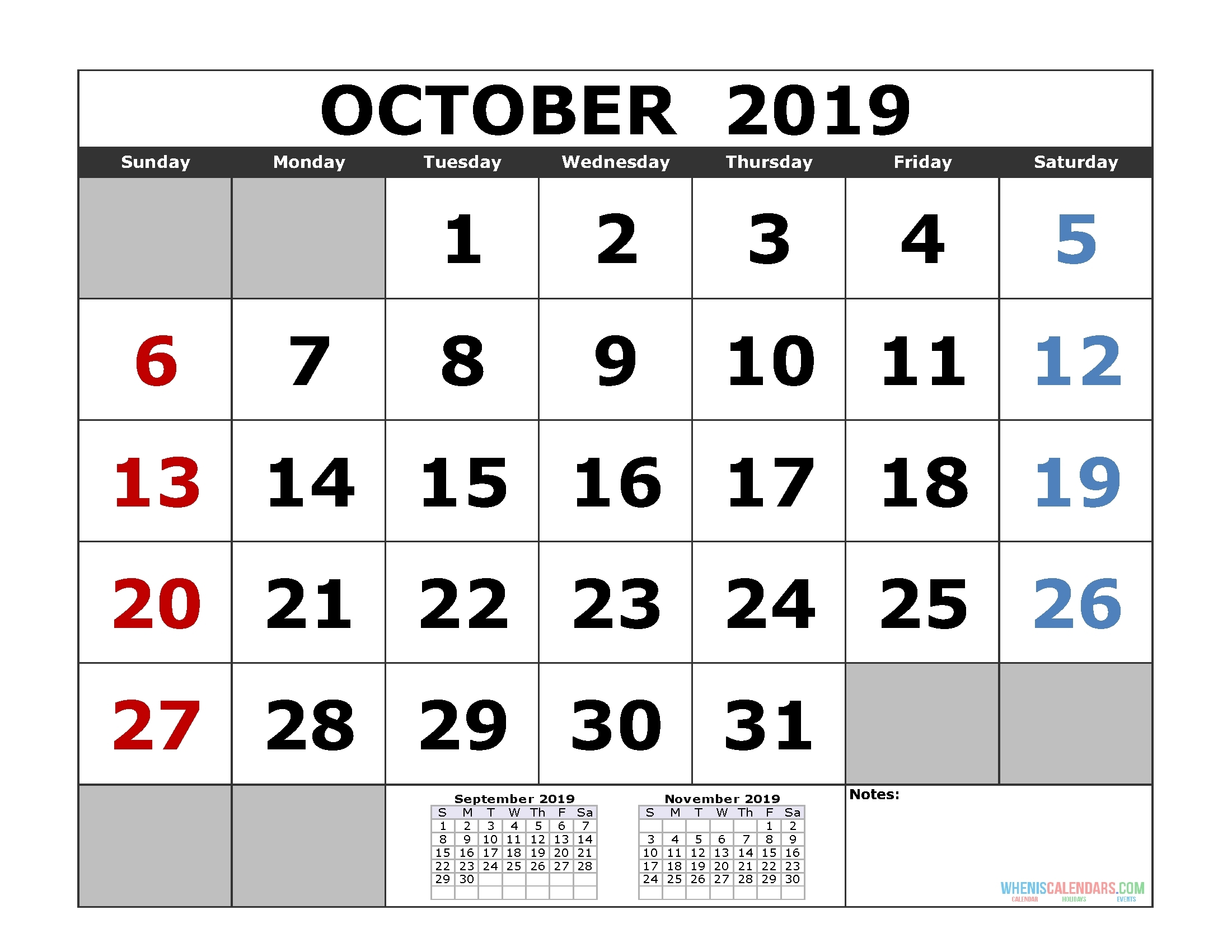 3Month Blank Template Oct 2020 | Free Calendar Template Example