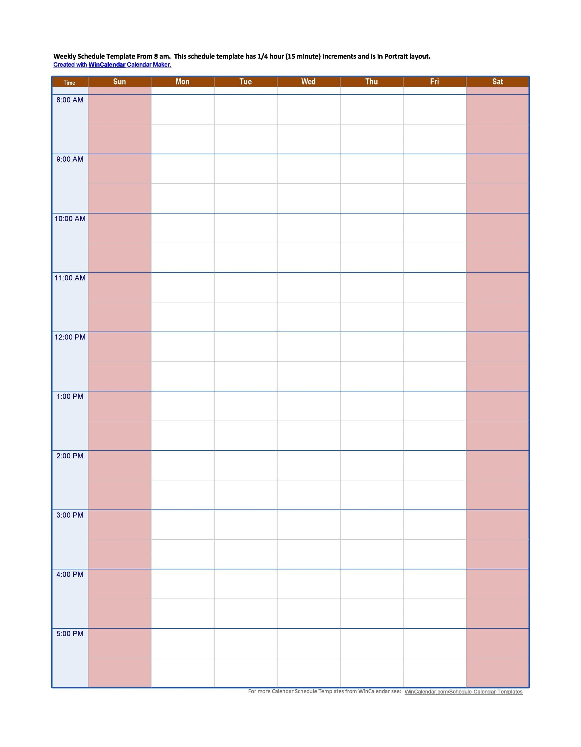 43 Effective Hourly Schedule Templates (Excel & Ms Word) ᐅ
