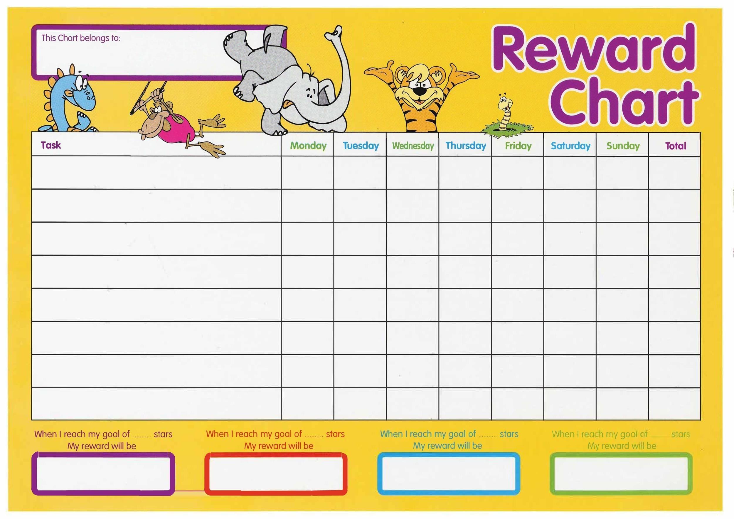 44 Printable Reward Charts For Kids (Pdf, Excel & Word)