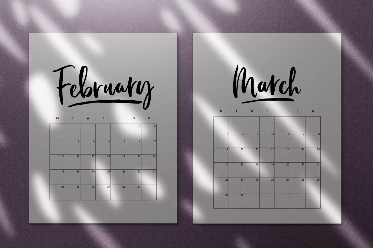 45 Best Printable Calendars 2020 (Both Free And Premium)