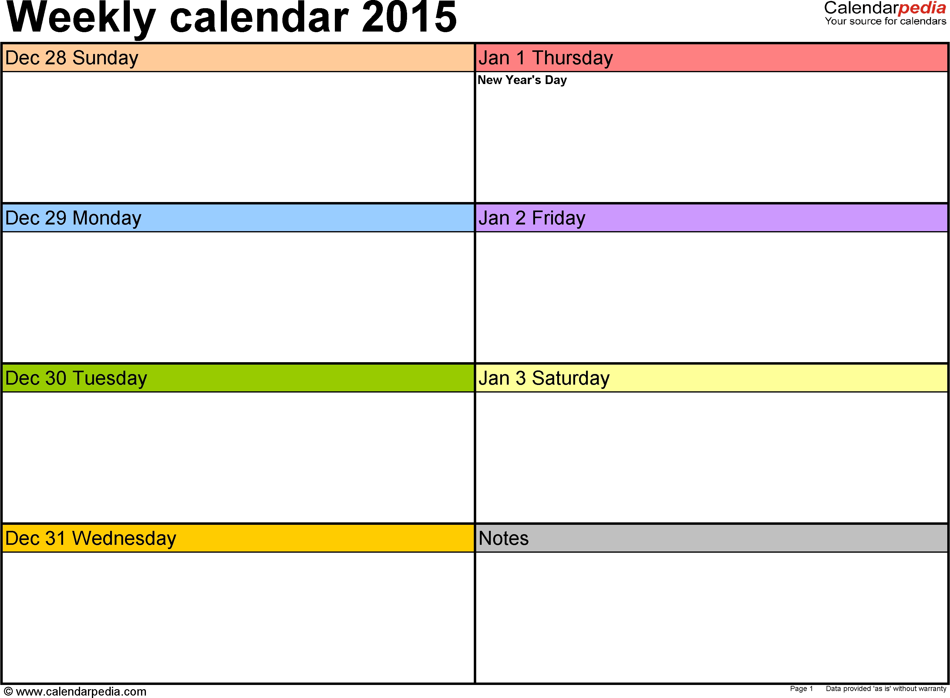 5 Best Images Of Free Printable Weekly Calendar Templates