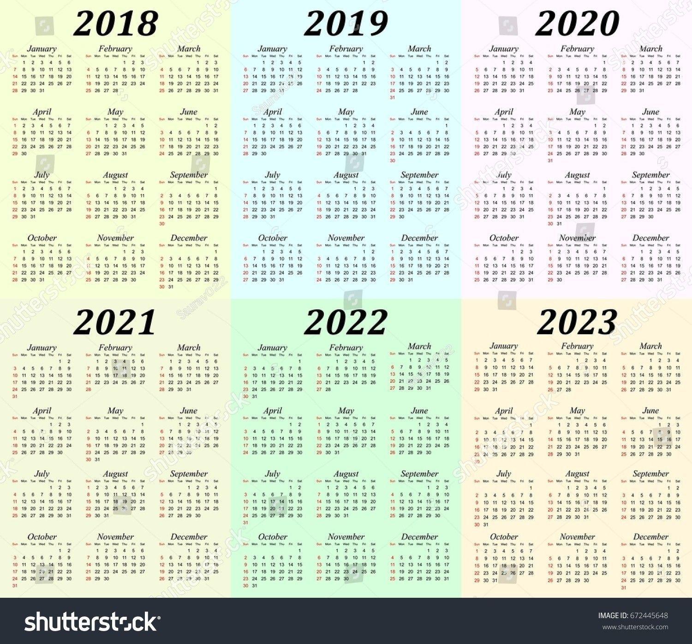 5 Year Calendar Printable (With Images) | Printable Calendar