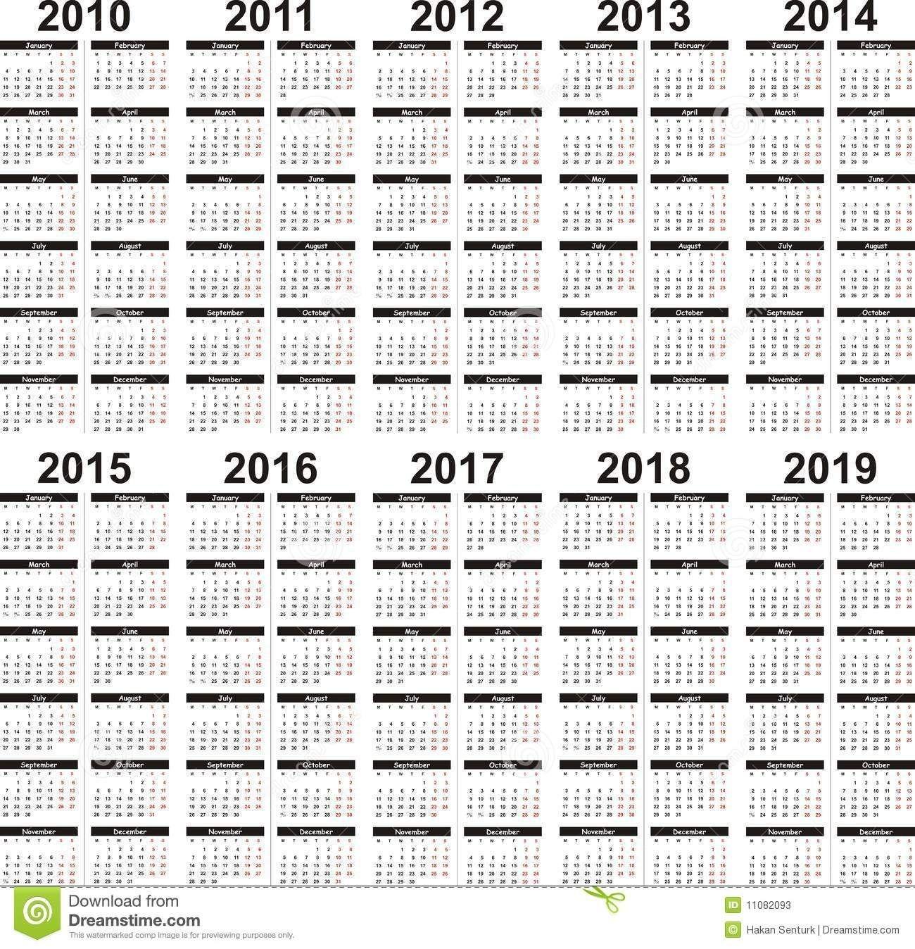 5 Year Calendar (With Images)   5 Year Calendar, Calendar