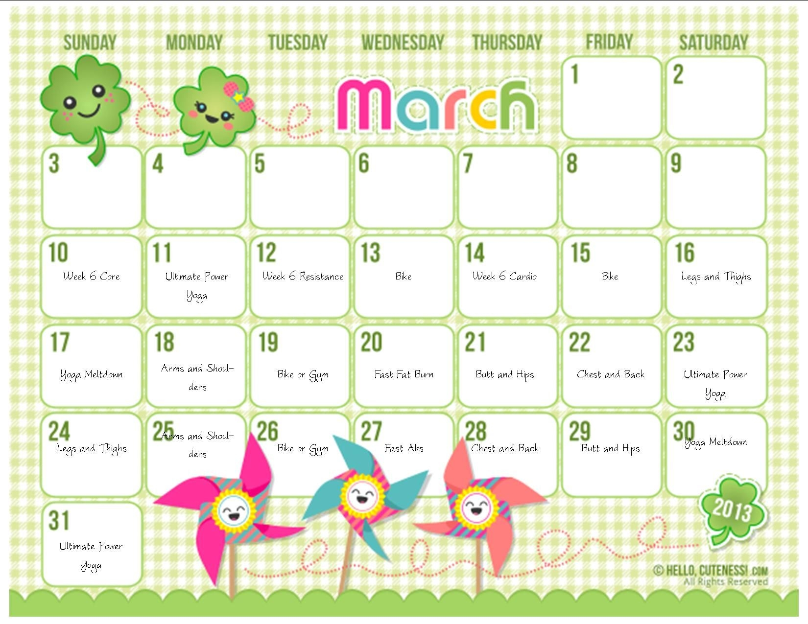 6 Best Images Of Cute Printable Calendars For Teachers