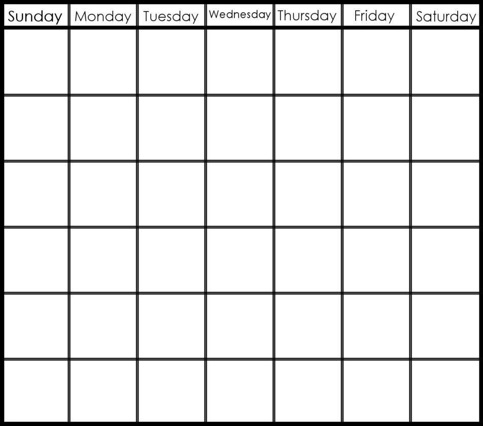 6 Week Blank Schedule Template | Free Calendar Template Example