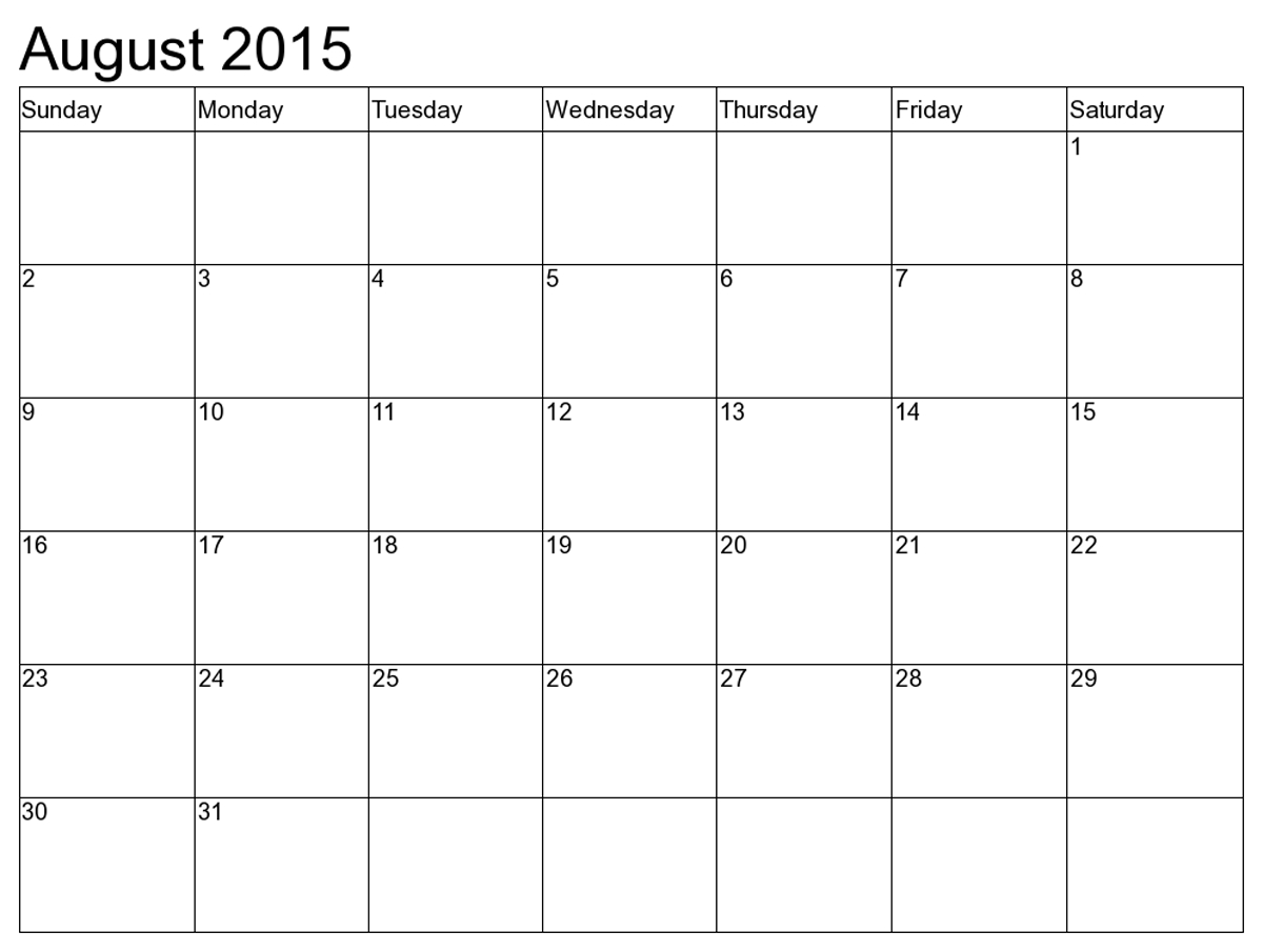 7 Best Images Of August Calendar Printable Free - August