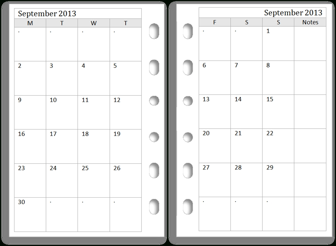 7 Best Images Of Free Printable Filofax Calendar - Printable